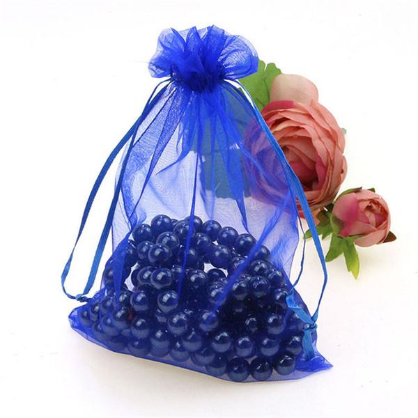 Atacado 50 pcs 19 cores Mix Amor coração Rose flores de Natal Voile Organza Sacos De Jóias Jewlery embalagem presente 7ZSH312