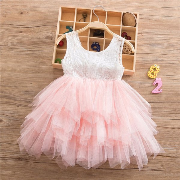 2019 New Spring sleeveless children's dress girls summer dress children's pettiskirt dress girl clothing free shipping