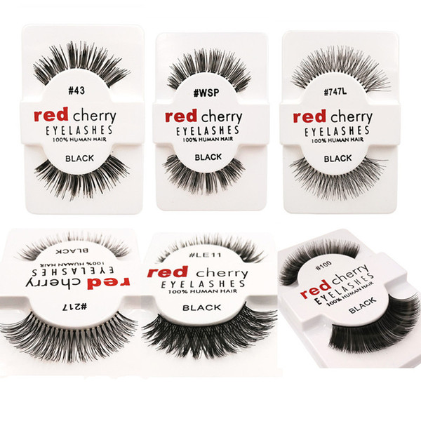 Red Cherry False Eyelashes 12 pairs pack Fake 3D Faux Mink Lashes Handmade Eye Lashes Makeup Beauty Tools Eyelash Extensions 12 Styles