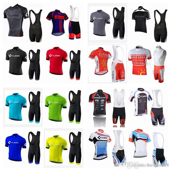 CUBE-COFIDIS team riding short-sleeved sweatshirt (bib) shorts sets of new bicycles ropa ciclismo breathable mountain bike men J5710