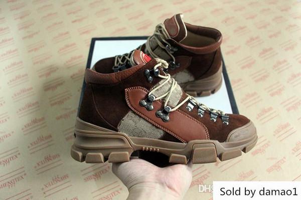 lüks FlashTrek yüksek top spor ayakkabı gerçek deri büyük boy yürüyüş adam kadın ayakkabı tasarımcısı botları 35-45