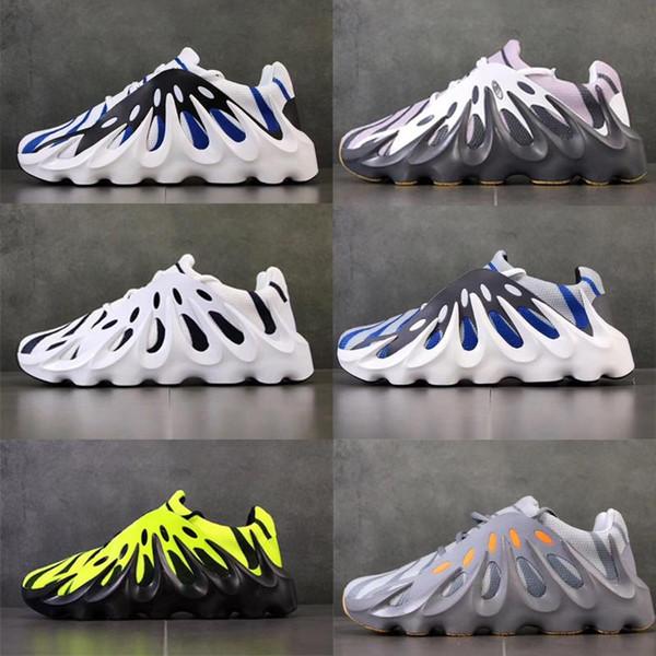 Con scatola di alta qualità Mens West 451 Kanye 3M Volcano Wave Runner Designer scarpe 451s scarpe da esterni fluorescenti