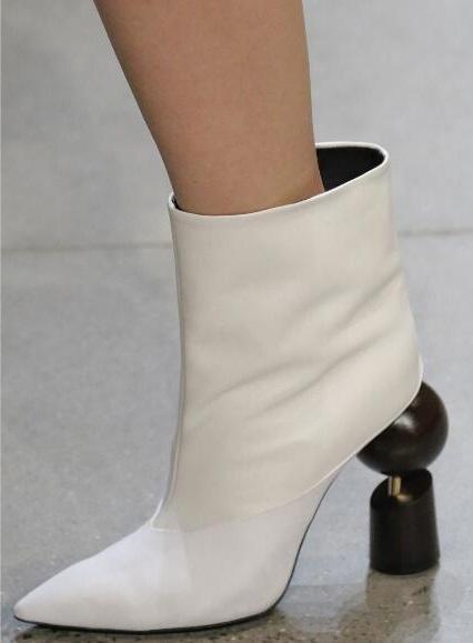1ceab3da05 Italian Black White Gold High Heel Mid Calf Boots Party Dress Boots ...