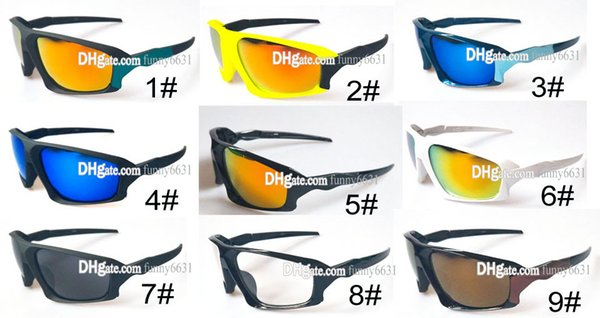 SUMMER cycling sports dazzling Men's riding Sunglasses WOMEN drving Sunglasses Acrylic sports spectacles motorcycle 9COLORS Free Shipping