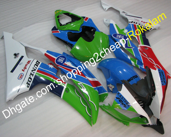 YZF600 R6 08-16 Fairings Set For Yamaha YZFR6 2008-2016 YZF FIAT Motorcycle Fairing Kit Red Black Green Blue (Injection molding)