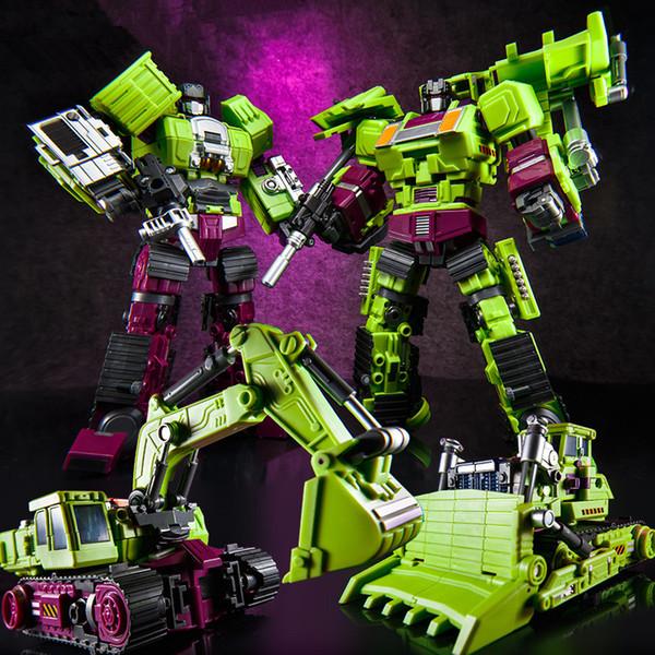 JINBAO New Devastator Jouets Transformation KO GT Robot Camions Voiture Surdimensionné Action Figure Excavatrice Grue Modèle Kid adulte Jouets
