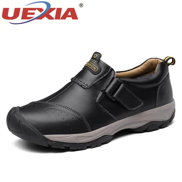 d875fc82d7e wholesale Brand Leather Sneakers Male For Men Shoes Adult 2018 Winter Warm  Fur Comfortable Short Plush