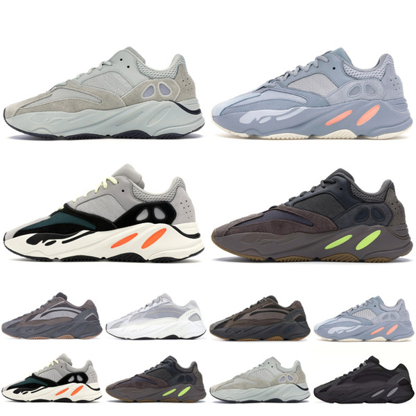 156fa07d2d Scarpe Estive Con Box Adidas Yeezy 700 Wave Runner Vanta Running Seankers  2019 Kanye West Designer Shoes Uomo Donna 700 V2 Geode Fashion Scarpe ...