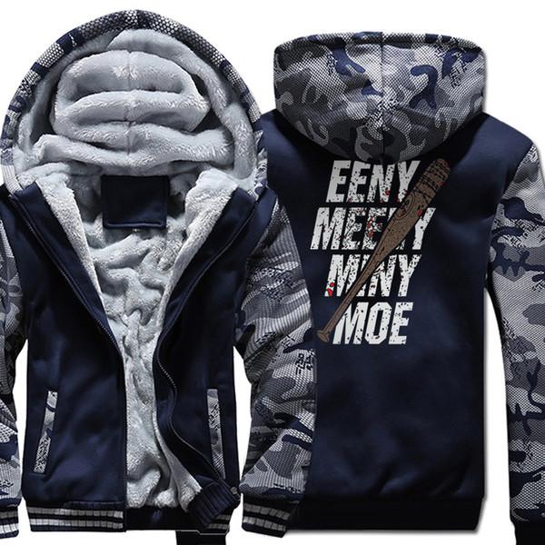The Walking Dead Imprimer Eeny Meeny Miny Moe Casual Sweat À Capuche 2019 Printemps Hiver Polaire Épais Sweats Hommes Sweat-shirts Marque Survêtement
