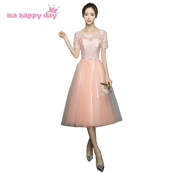 girls elegant peach colored lace top tulle bridesmaid dresses shoulder ladies ball gown dress gown for teens a wedding
