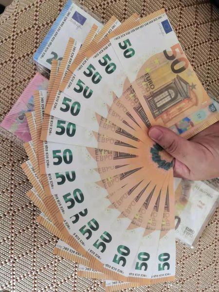 Prop euro Dinheiro 10, Falso 20 50 100 Euro, dólar, contagem de Dinheiro Falso dinheiro crianças para filme, vídeo filme
