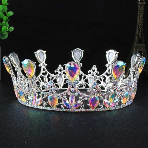 crown tiara jewelry 2017 Bride Wedding Accesories Hair Tiaras Crystal Rhinestone Water Drop Crown Tiara Jewelry HG00105