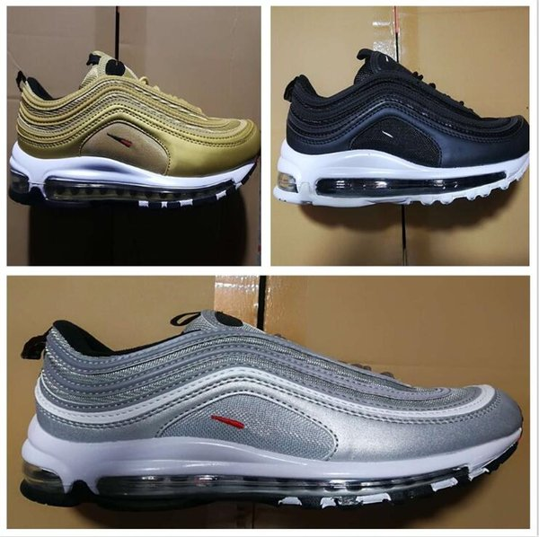 2018 Men Shoes 97 97S Maxes Running Shoes Sneakers Men Outdoor Shoes Black White Free Drop Shipping eur