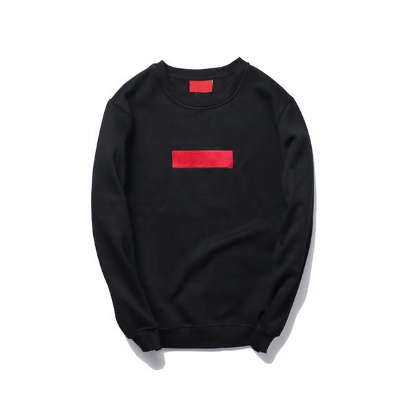 Модный бренд мужские дизайнерские толстовки зима теплая классическая вышивка высокое качество хип-хоп толстовка сплошной цвет мода пуловер толстовка