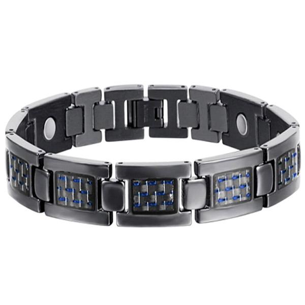 Valentines Day Charm Men Bracelet Jewelry Magnetic Titanium Bangles Chain Health Therapy For Arthritis Fashion Wristband Unique