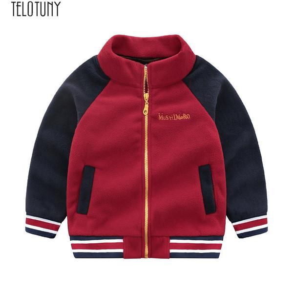 TELOTUNY Baby Coat Toddler Bambini Baby Boys Fleece Splice Giacche Baseball Coat Outwear Abbigliamento Kids Casual Top Fashion New Dec8