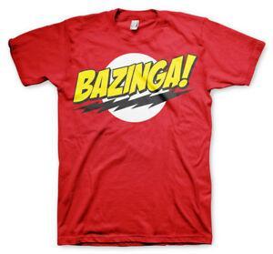 Официальная лицензионная мужская футболка Bazinga Super Logo Размеры S-3XL (красный)