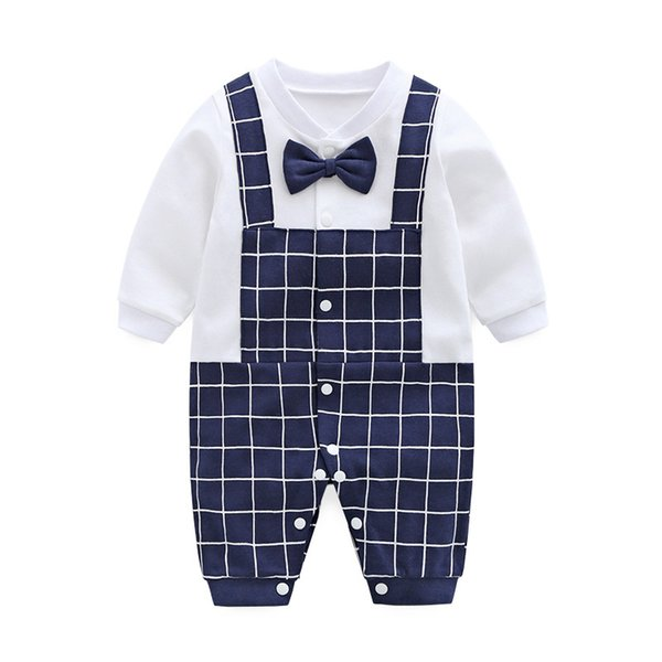 Baby-kleidung neugeborenen langen ärmeln strampler baumwolle kleinkind infant kinder plaid clothing cartoon neugeborenen kinder overall carters dress