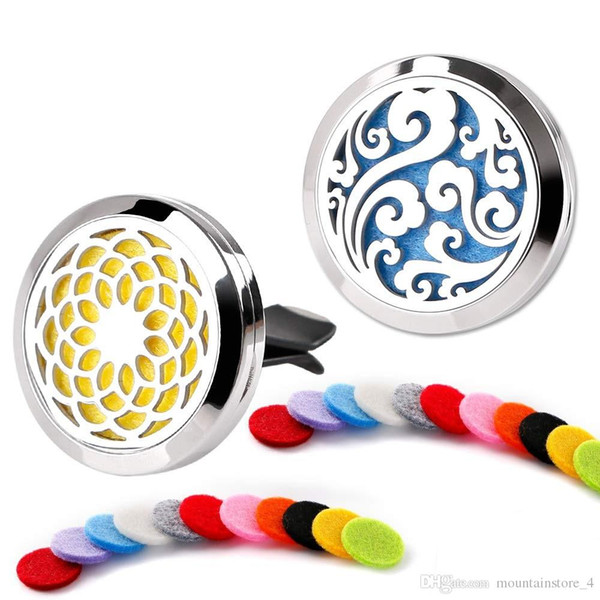 top popular 30mm Tree Of life Car Diffuser Locket Vent Clip Essential Oil Jewelry Aromatherapy Perfume Locket Pads Gifts Drop Shipping (Retail) 2020