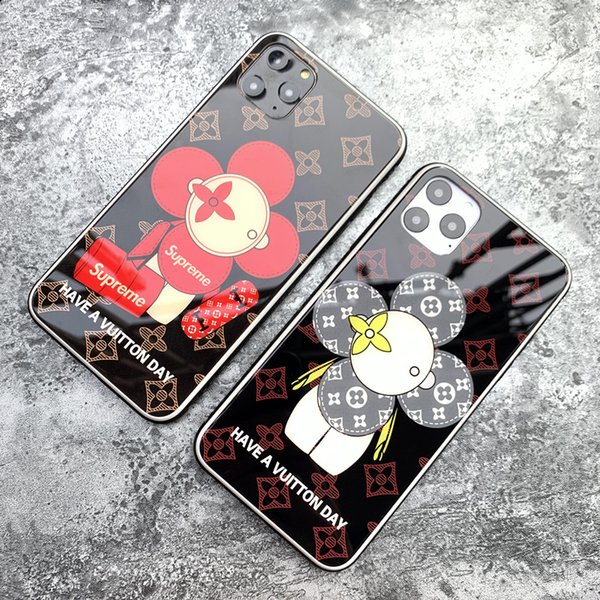Роскошный телефон Чехлы для IPhone 11 / 11Pro / 11Pro MAX Дизайнер задней стороны обложки Мода Дело Iphone с торговыми марками Sun Flower Letters 2 Стили