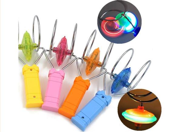 Yanıp sönen Led fidget spinner Üst Manyetik Gyro Tekerlek Parça Oyuncak Sihirli Fantasy Lazer Işık Gyro Bauble Renkli Parlaklık Plastik Çocuk oyuncakları Hediye
