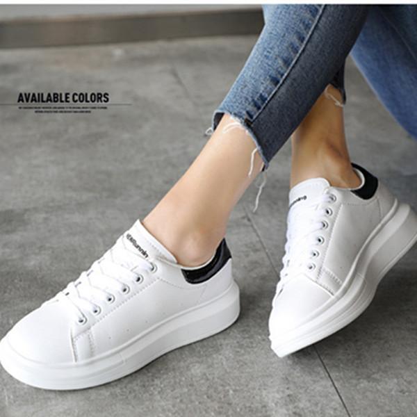 Primavera otoño nuevo diseñador zapatos blancos zapatillas de deporte femeninas moda mujeres deporte zapatos casuales mujer mujer