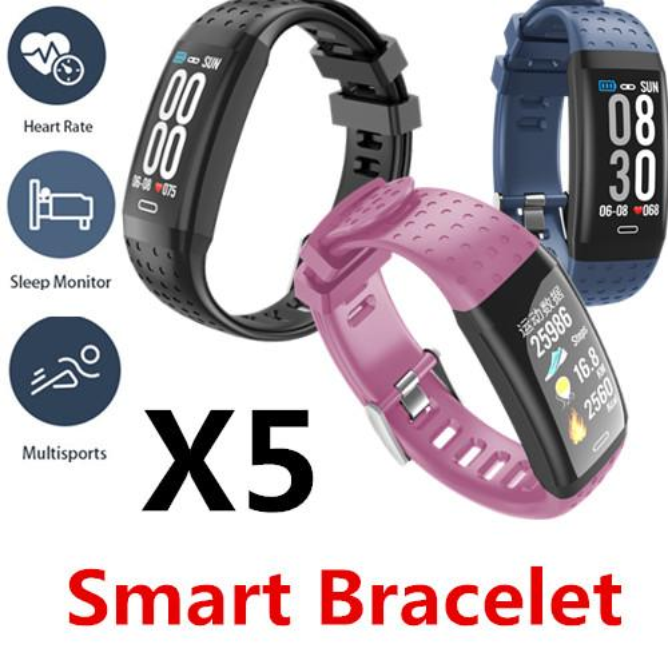 X5 Умный браслет ремешок для часов Bluetooth Водонепроницаемый Частота сердечных сокращений Артериальное давление Полный сенсорный мобильный телефон APP управления Мульти-спортивные режимы 50 пакетов
