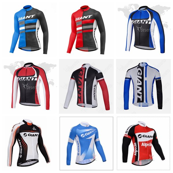 2019 equipe GIGANTE Ciclismo longo Mangas jersey calças mens quick dry MTB roupas de corrida desgaste 51854