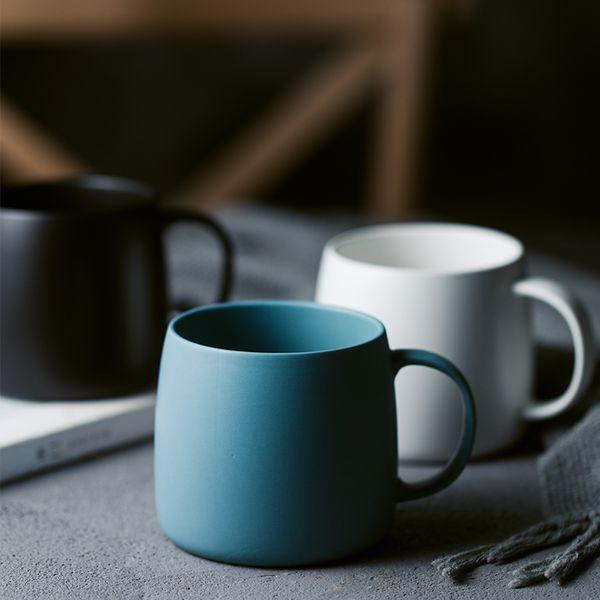 Tazas nórdicas mate Taza de cerámica de cerámica Taza de mango de oficina Taza de beber leche casera