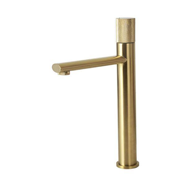 Escovado torneira de ouro T