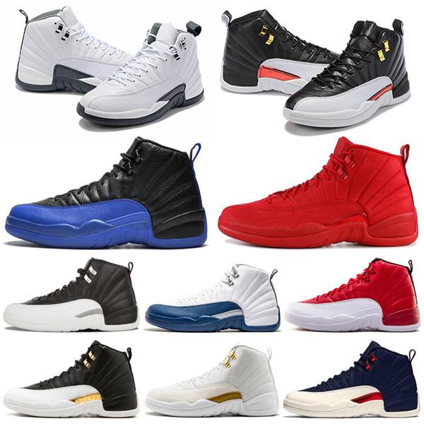 2019 Yeni Basketbol Ayakkabıları 12 12 s Erkekler Ayakkabı DOERNBECHER FIBA Ters Taksi Oyunu Kraliyet Fransız Mavi Erkek Eğitmenler Açık Spor Sneakers 7-13