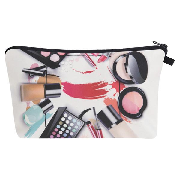 Schwarze Schuhe 3D Gedruckt Make-Up Kulturbeutel Pinsel Taschen Organizer Necessaire Reisen Lagerung Reißverschluss Kosmetiktasche für Frauen SSA156