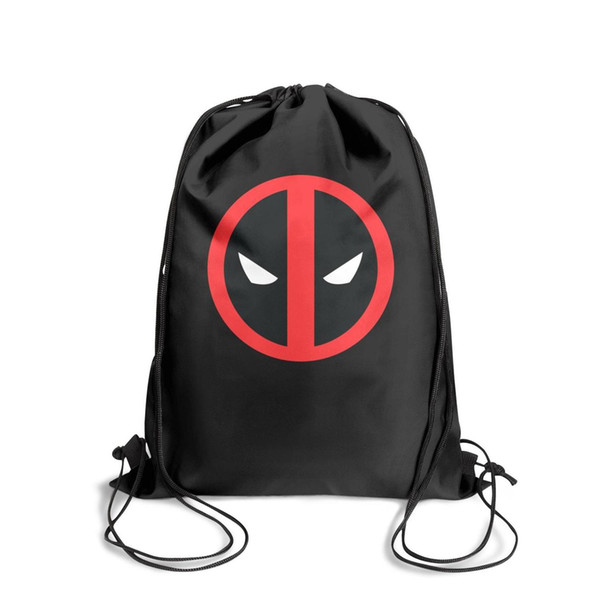 Drawstring Sports Backpack Deadpool logo Vector red blackoutdoor durable sack pouch Pull String Backpack