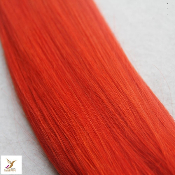 Bright Red Color 10-30 Inchs 6A Unprocessed Virgin Straight Hair Weaving 100% Human Hair Weave 100g/1pcs Hair Extensions