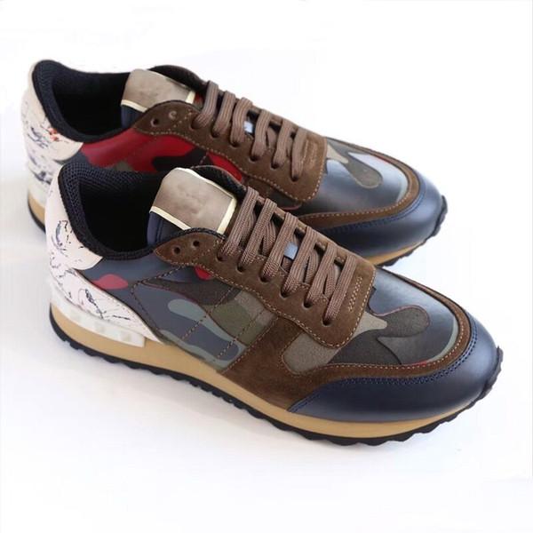 cc11362c05698 Size 35-45 Women/Men casual shoes camouflage genuine leather lace up couple  shoes