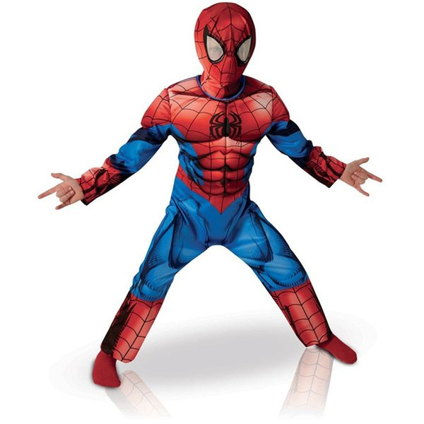 Cosplay Spider-man Suit Costume For Halloween Children Boy Muscle Spider Man Costume Super Hero Superman Avengers Suit