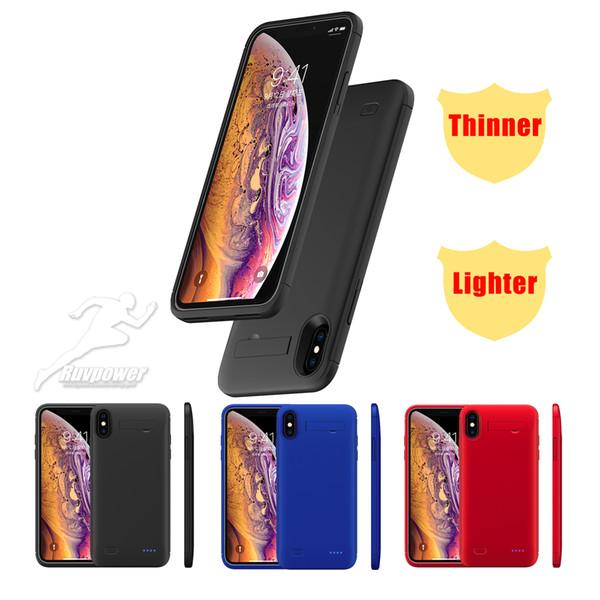 Concha do telefone móvel Caso Caso de Bateria Externa Carregador De Energia Protetora Banco de Potência de Carregamento Caso Capa para iPhone6 7 8 iPhone além de XS XS XS XR