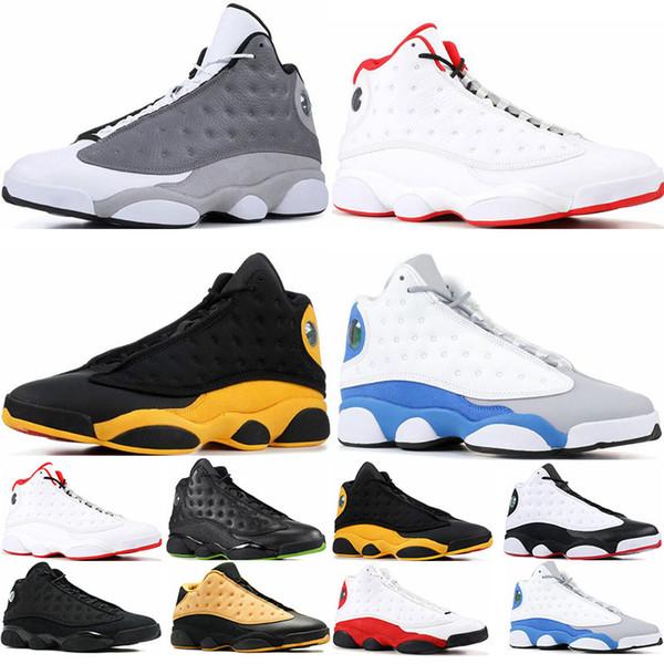 New Mens chaussures de basket-ball 13s Atmosphere Grey Bred chat noir de chicago, il a obtenu le jeu italie bleu 13 baskets, chaussures de sport taille 7-13