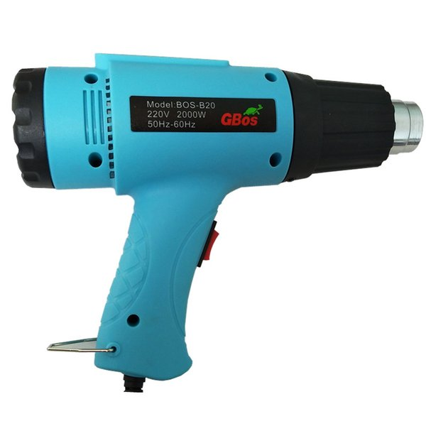 2000W 220V EU Industrial Electric Hot Air Gun Thermoregulator Heat Guns LCD Display Shrink Wrapping Thermal power tool