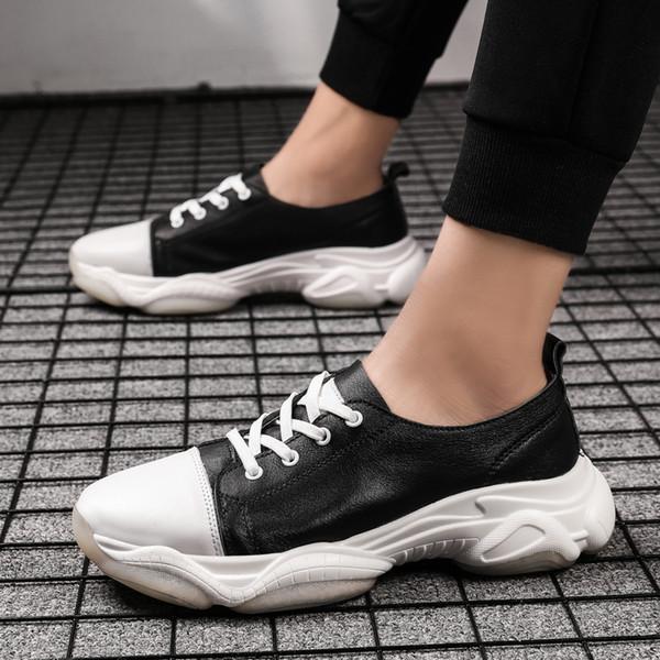 Gentlemans Yumuşak deri ayakkabı erkekler Sneakers Erkek Eğitmenler Dantel-up Düz Sürüş Ayakkabı Zapatillas Hombre Casual 5 # 20 / 20D50