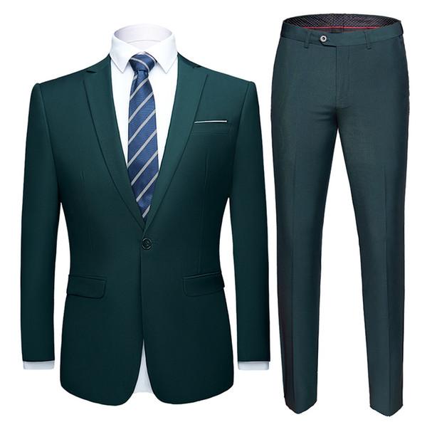 dark green suit