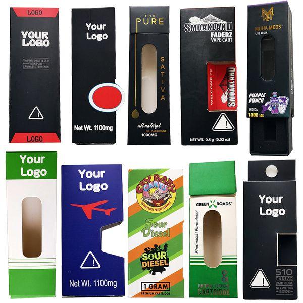 Packaging personalizzato Costom scatola di cartucce Vape Packaging Logo OEM Personalizza Pacchetto sacchetto personalizzato Per Vape Penne Dab vaporizzatore atomizzatore