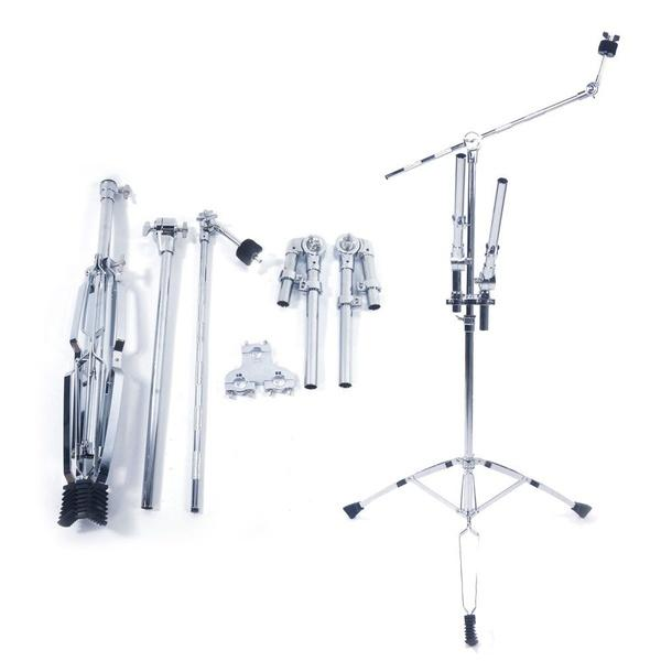 best selling New Professional Double Tom Drum Stand Cymbal Boom Mount Arm Duel Percussion Hardware for Beginners and Drummers