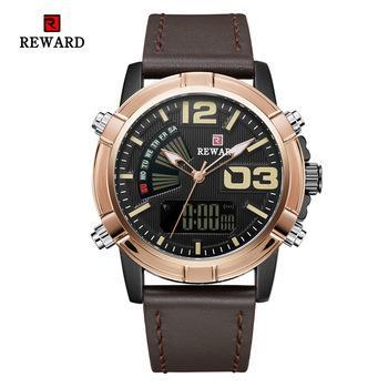 Reward Rd63092m 2019 Electronic Watch Men Watch Double Movement Electronic Sports Waterproof Strap Quartz Men's Watch