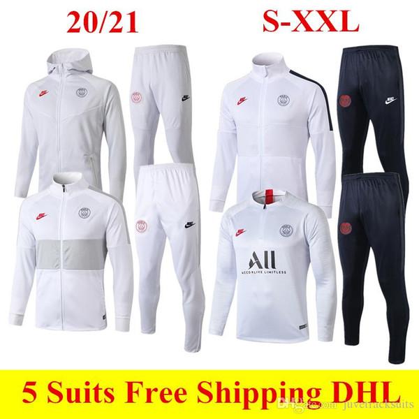 2020 blanc Paris Football Hoodies Thai Qualité 20 mis 21 Mbappe football Veste ICARDI rouge pantalon à manches longues Survêtement Sweat-shirt Loisirs