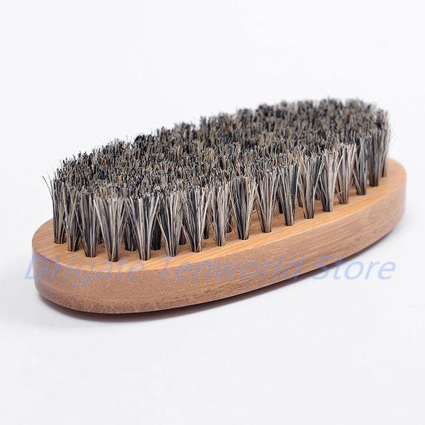 Neue Wildschweinhaar-Borsten-Bart-Schnurrbart-Bürsten-harter runder Holzgriff AntistaticNew Wildschwein-Hai-Pfirsich-Kamm-Friseur-Werkzeug für Männer