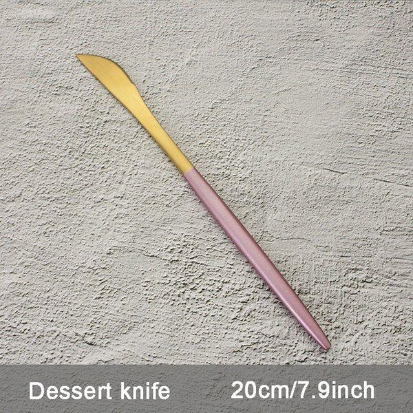 Color:Pink Dessert knife