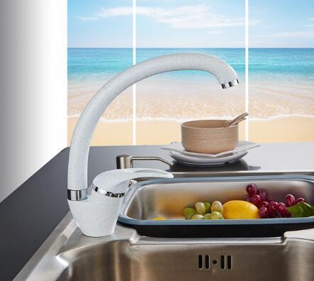 Современный стиль дома многоцветный медный кухонный кран холодной и горячей воды кран с одной ручкой черный белый хаки