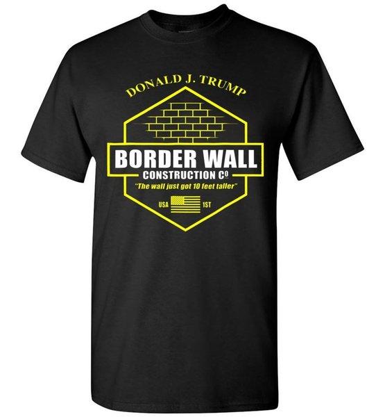 Trump Border Wall Строительная Компания Футболка М 234XL F251 Прохладный Повседневная гордость футболка мужская Мужская Новая Мода футболка