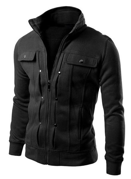 Qualité Marque Bouton Veste Manteau Hommes Survêtement Survêtement Sweat Mâle 2019 Cardigan Multi Mens But Tour Taille M- 4XL